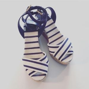 Tory Burch Ankle Strap Wedges